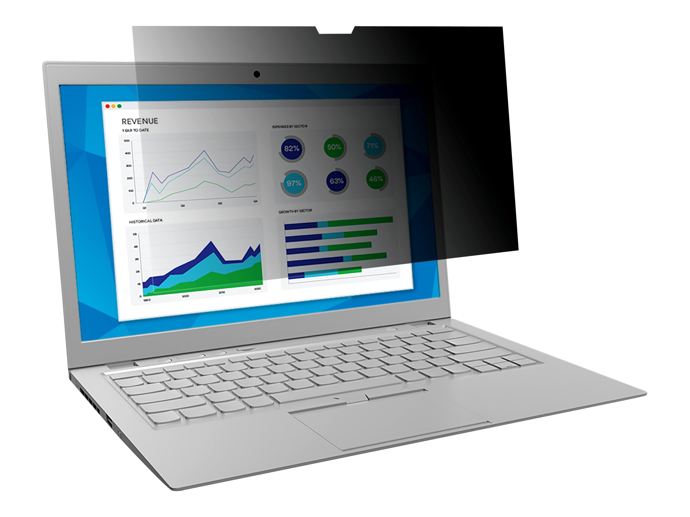 """3M Touch Privacy Filter for 13.3"""" Laptops 16:9 with COMPLY notebook privacy filter"""