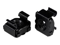StarTech.com M5 Cage Nuts - 50 Pack, Black - M5 Mounting Cage Nuts for Server Rack & Cabinet (CABCAGENUTSB) - Cage nuts - black (pack of 50) - for P/N: RK12WALLO, RK12WALLOA, RK15WALLO, RK15WALLOA, RK4236BKB, RK4242BK30, RKQMCAB12V2