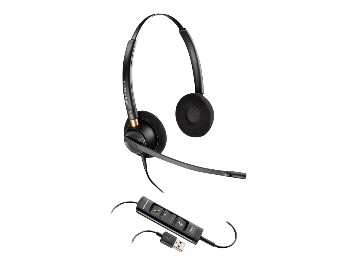 Plantronics EncorePro HW525 - Headset - On-Ear - kabelgebunden - USB