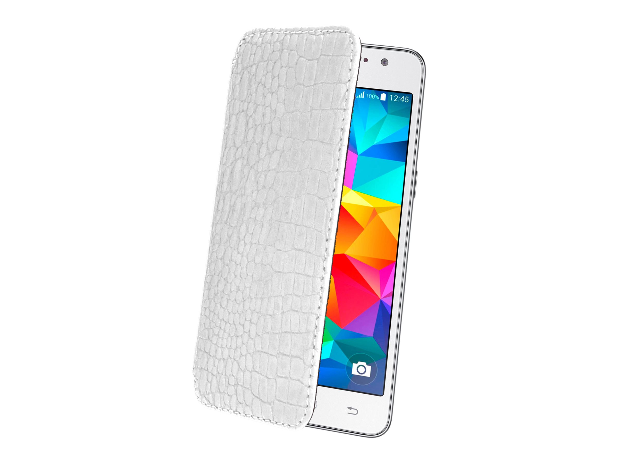 Muvit Made in Paris Crystal Folio - Protection à rabat pour Samsung GALAXY Grand Prime - croco blanc