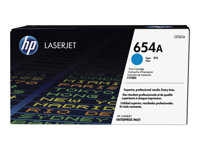 HP 654A - Cyan - originale - LaserJet - cartouche de toner (CF331A) - pour HP Color LaserJet Enterprise M651dn, M651n; Color LaserJet Managed M651dnm, M651xhm