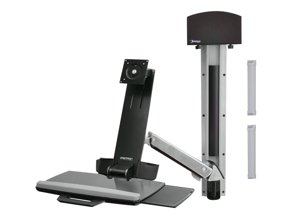 Ergotron StyleView Sit-Stand Combo System with Small CPU Holder - mounting kit