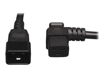 Tripp Lite 2ft Power Cord Extension Cable Right Angle C19 to C20 Heavy Duty 20A 12AWG 2' - power cable - 61 cm