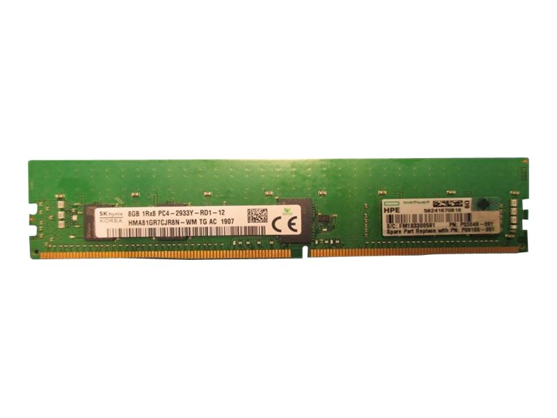HPE SmartMemory - DDR4 - module - 8 GB - DIMM 288-pin - 2933 MHz / PC4-23400 - registered