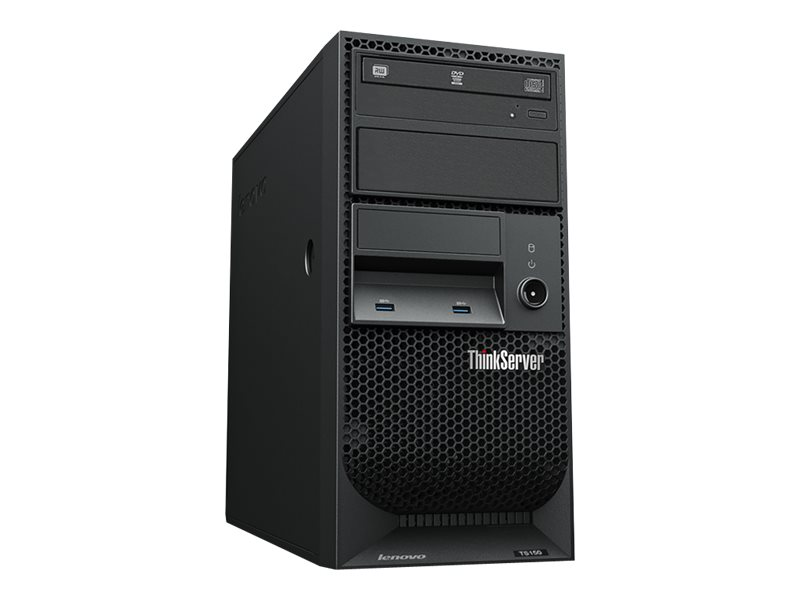 Lenovo ThinkServer TS150 70UB - Server - Tower - 4U - 1-Weg - 1 x Xeon E3-1225V6 / 3.3 GHz