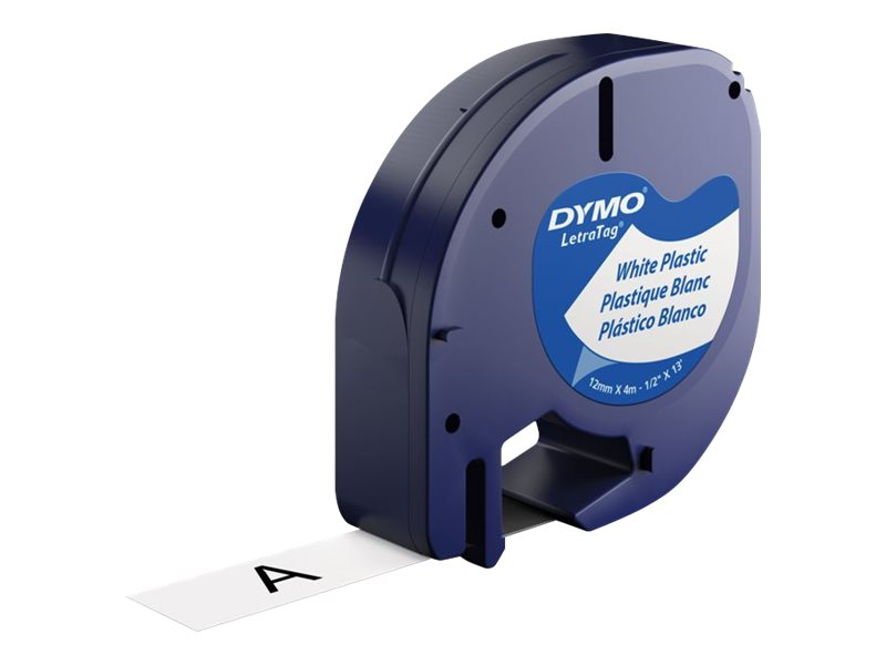 DYMO LetraTAG - label tape - 1 roll(s) - Roll (1.2 cm x 4 m)