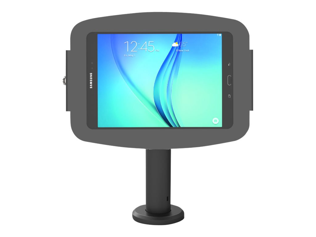 """Compulocks Space Rise Galaxy Tab E 9.6"""" Counter Top Kiosk 4"""" Black - stand - for tablet"""