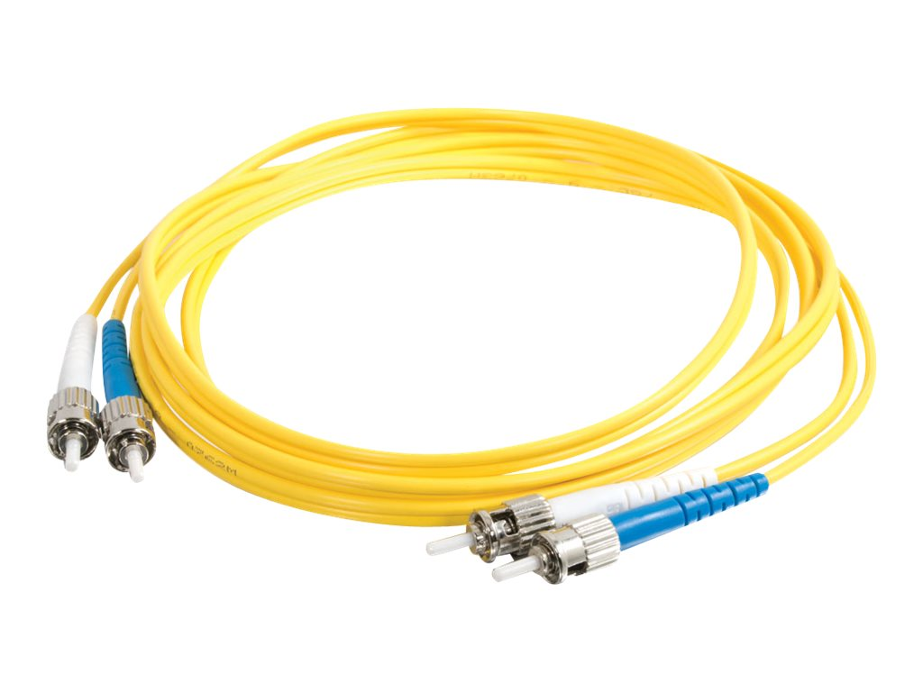 C2G 7m ST-ST 9/125 Duplex Single Mode OS2 Fiber Cable TAA - Yellow - 23ft - patch cable - TAA Compliant - 7 m - yellow