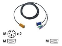 IOGEAR keyboard / video / mouse (KVM) cable - 3 m