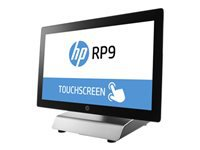 """HP RP9 G1 Retail System 9018 - All-in-one - 1 x Core i3 6100 / 3.7 GHz - RAM 4 GB - SSD 128 GB - 3D V-NAND technology - HD Graphics 530 - GigE - Win 10 IOT Enterprise 64-bit Retail - monitor: LED 18.5"""" 1366 x 768 (HD) touchscreen"""