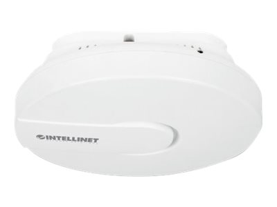 Intellinet High-Power Ceiling Mount Wireless 300N PoE Access Point - Drahtlose Basisstation - 802.11b/g/n - 2.4 GHz - Gleichstrom - in der Decke