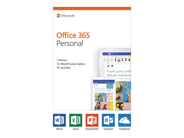 Microsoft Office 365 Personal - Version boîte (1 an) - 1 personne - sans support, P4 - Win, Mac, Android, iOS - français - France
