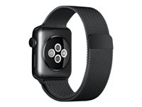 Apple 38mm Milanese Loop - Bracelet de montre - 130 - 180 mm - noir spatial - pour Watch (38 mm)