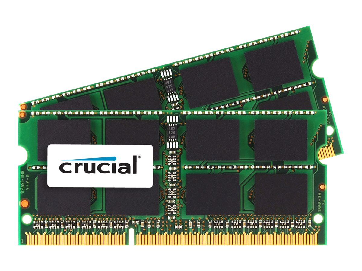 Crucial - DDR3 - 8 GB : 2 x 4 GB - SO DIMM 204-PIN - 1066 MHz / PC3-8500 - CL7