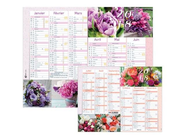 Oberthur an mone calendrier planning mural 2017 6 for Planning mural 2017