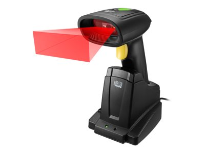 Adesso NuScan 7400TR - Barcode scanner - handheld - 24 scan / sec - decoded - USB, RF(2.4 GHz)