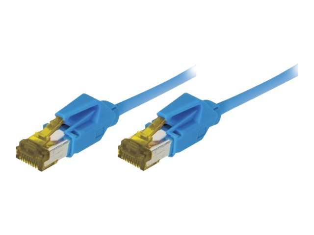 Cordon Patch Rj45 S/Ftp Cat 6A Lsoh Snagless Bleu - 0,30 M