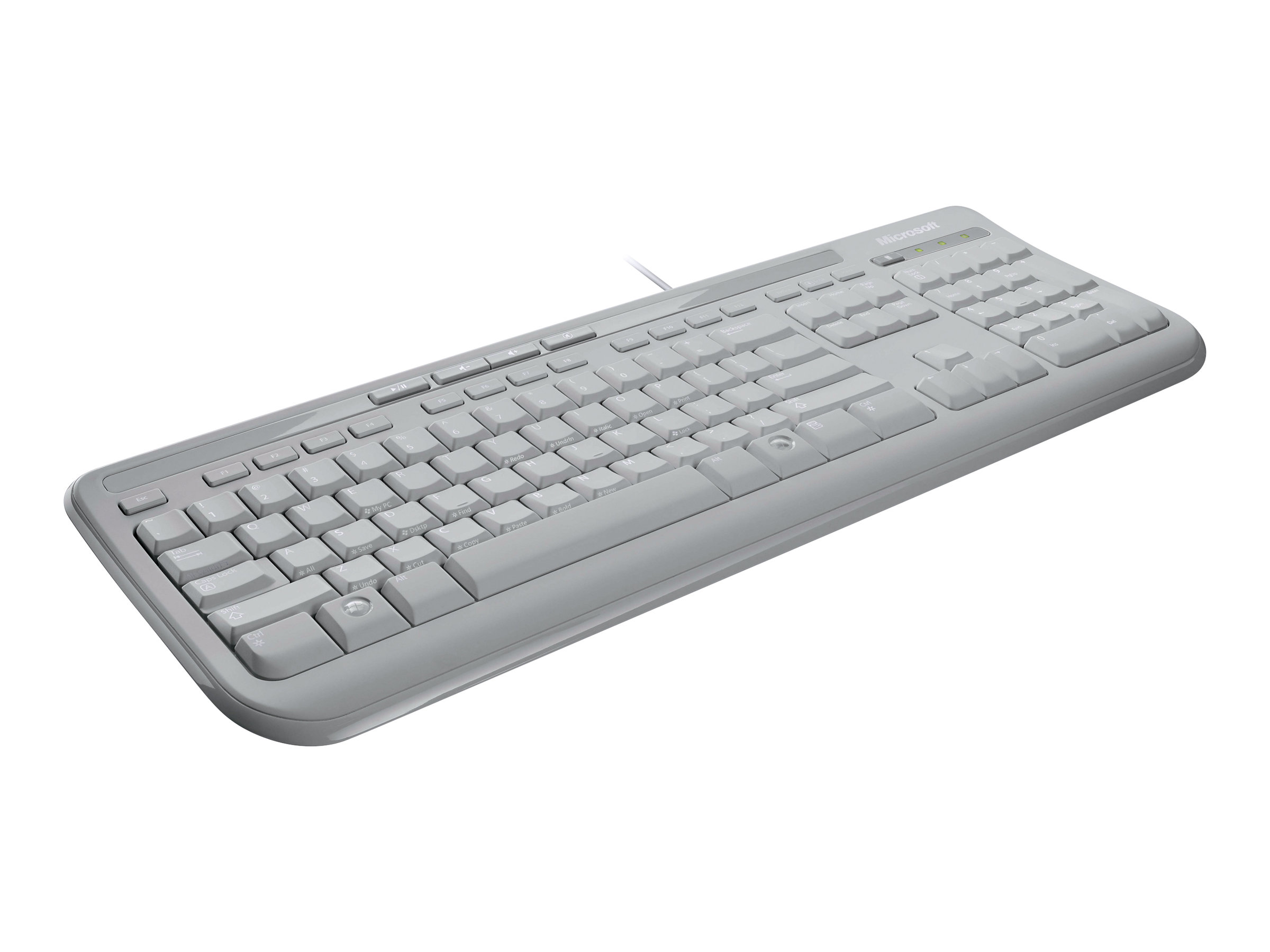 Microsoft Wired Keyboard 600 - Tastatur - USB - Deutsch - weiß