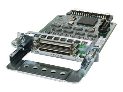 Cisco High-Speed - Erweiterungsmodul - RS-232 x 16 - für Cisco 1841 ADSL2, 18XX, 1921 4-pair, 1921 ADSL2+, 1921 T1, 19XX, 28XX, 29XX, 38XX, 39XX