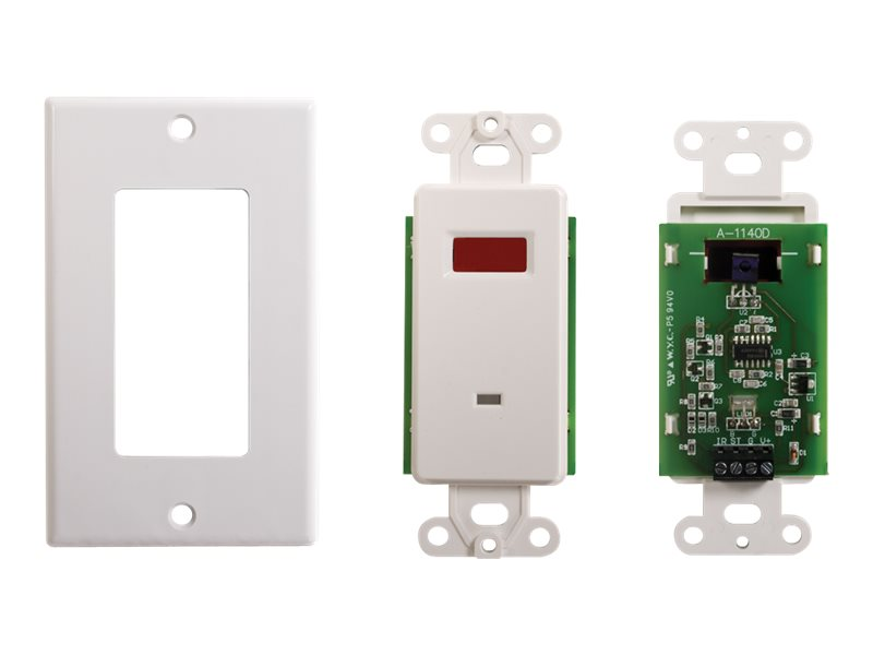 C2G TruLink Infrared (IR) Remote Control Dual Band Wall Plate Receiver - infrared receiver