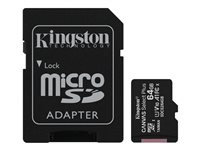 Kingston Canvas Select Plus - flash-minneskort - 64 GB - mikroSDXC UHS-I