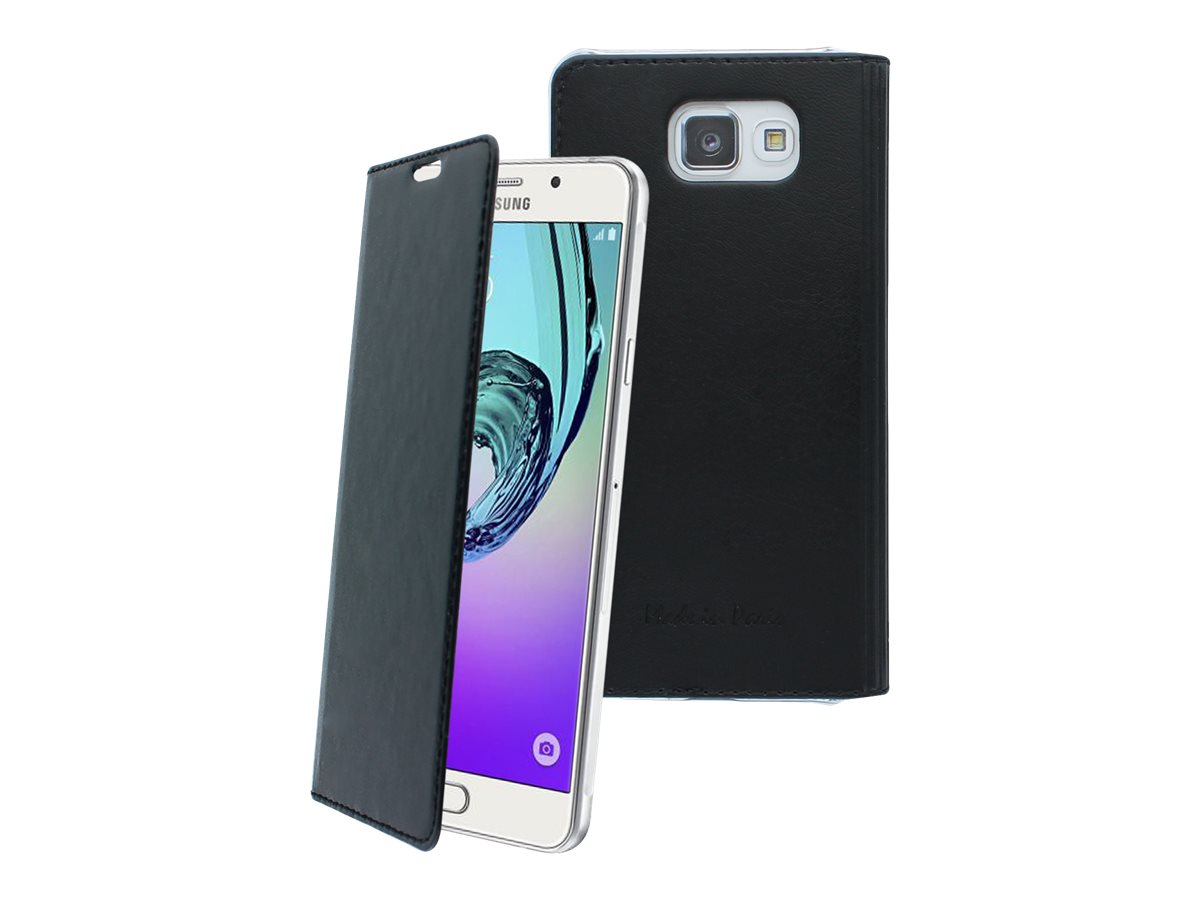 Muvit Made in Paris Crystal Folio Luxe - Protection à rabat pour Samsung Galaxy A5 - noir