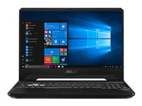 "ASUS TUF Gaming FX505GM BN018T - Core i7 8750H / 2.2 GHz - Win 10 Familiale 64 bits - 8 Go RAM - 128 Go SSD NVMe + 1 To HDD - 15.6"" IPS 1920 x 1080 (Full HD) - GF GTX 1060 - 802.11ac - gris foncé"