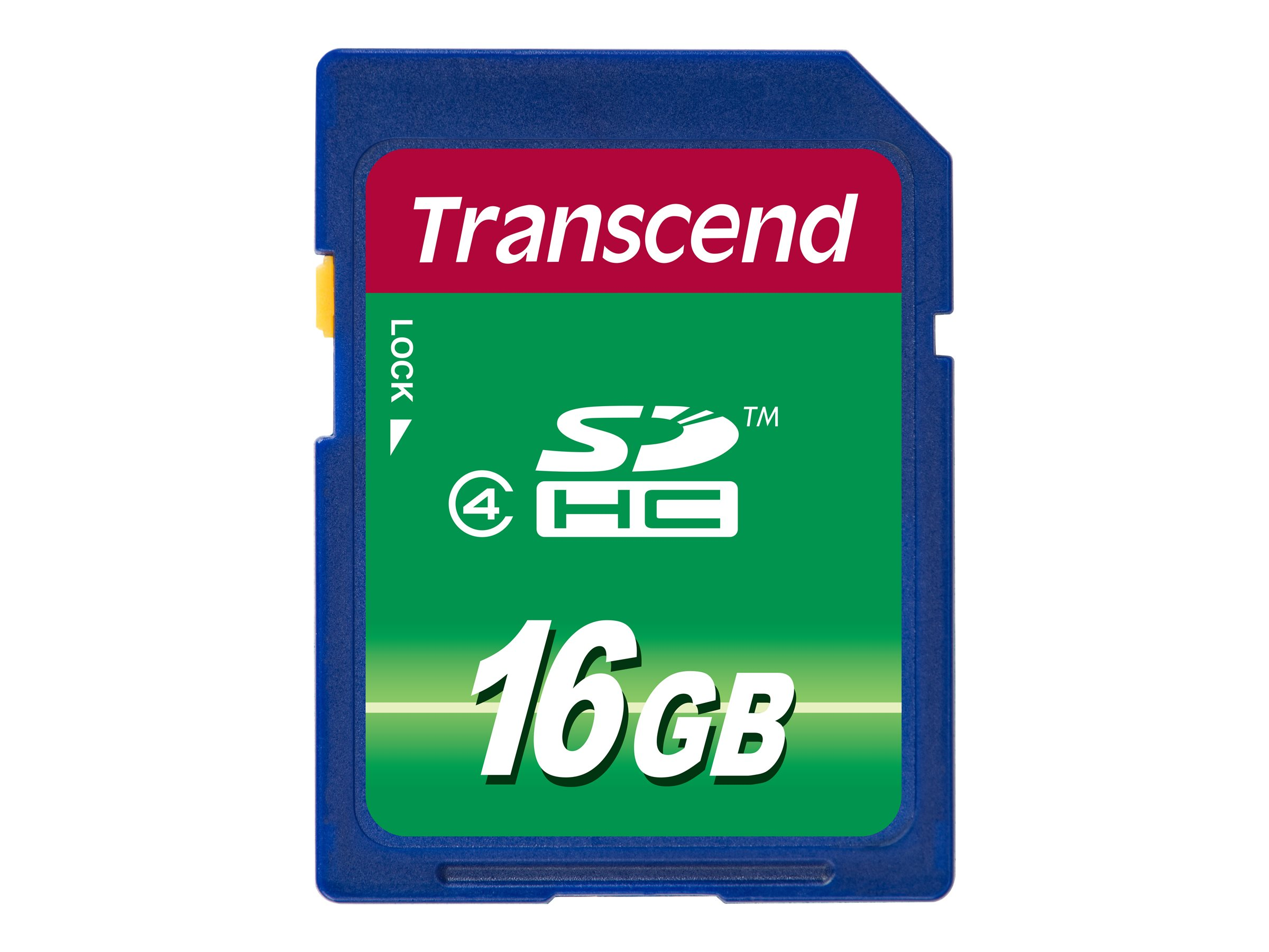 Transcend - Flash-Speicherkarte - 16 GB - Class 4 - SDHC