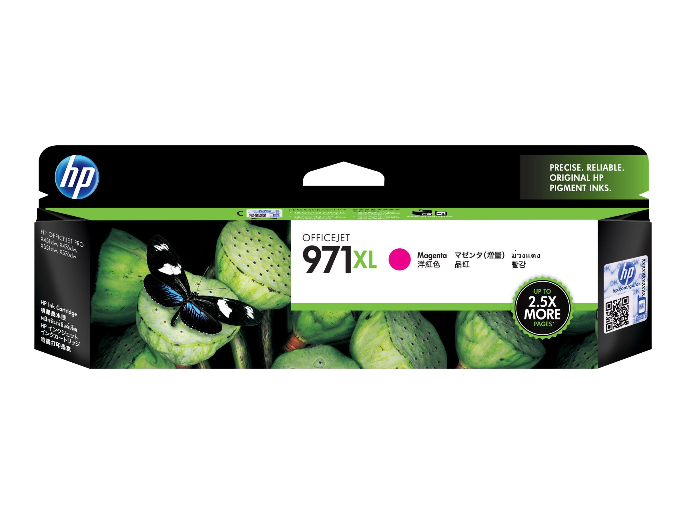 HP 971XL - High Yield - magenta - original - ink cartridge