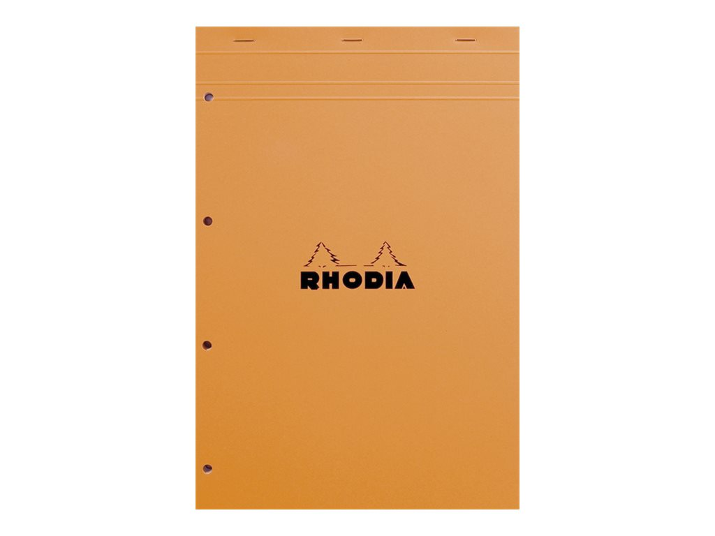 RHODIA Basics - Bloc notes - A4 - 160 pages - quadrillé - 5x5 - 4 trous - perforé