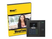 WaspTime Standard RFID Solution - box pack - 1 administrator, 50 employees - with 50 RFID Badges / RFID employee time c…