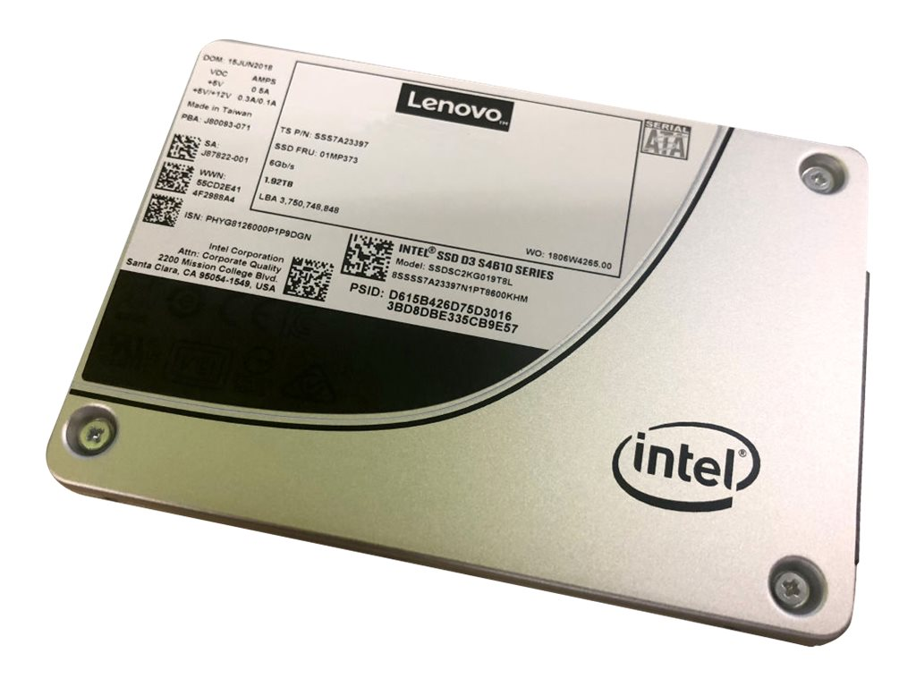 Intel S4610 Mainstream - solid state drive - 1.92 TB - SATA 6Gb/s