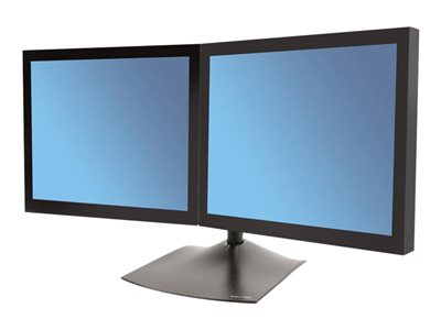 Ergotron DS100 Dual-Monitor Desk Stand, Horizontal Stand for 2 LCD displays