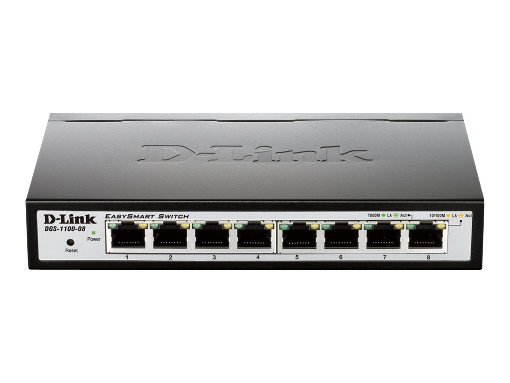 D-Link EasySmart Switch DGS-1100-08 - switch - 8 ports - managed