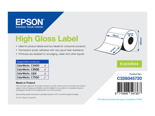 101.6mm x 25.4mm Laser and inkjet permanent paper labels 4 x 1
