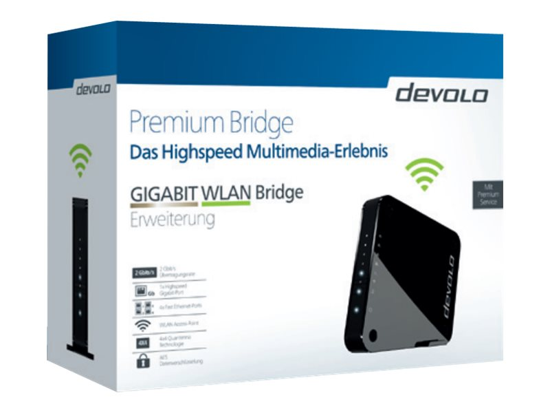 devolo GIGABIT WLAN - Bridge - GigE - 802.11a/b/g/n/ac - Dual-Band