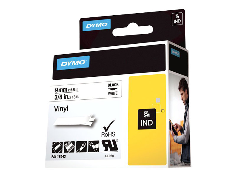 DYMO IND - label tape - 1 roll(s) - Roll (0.9 cm x 5 m)