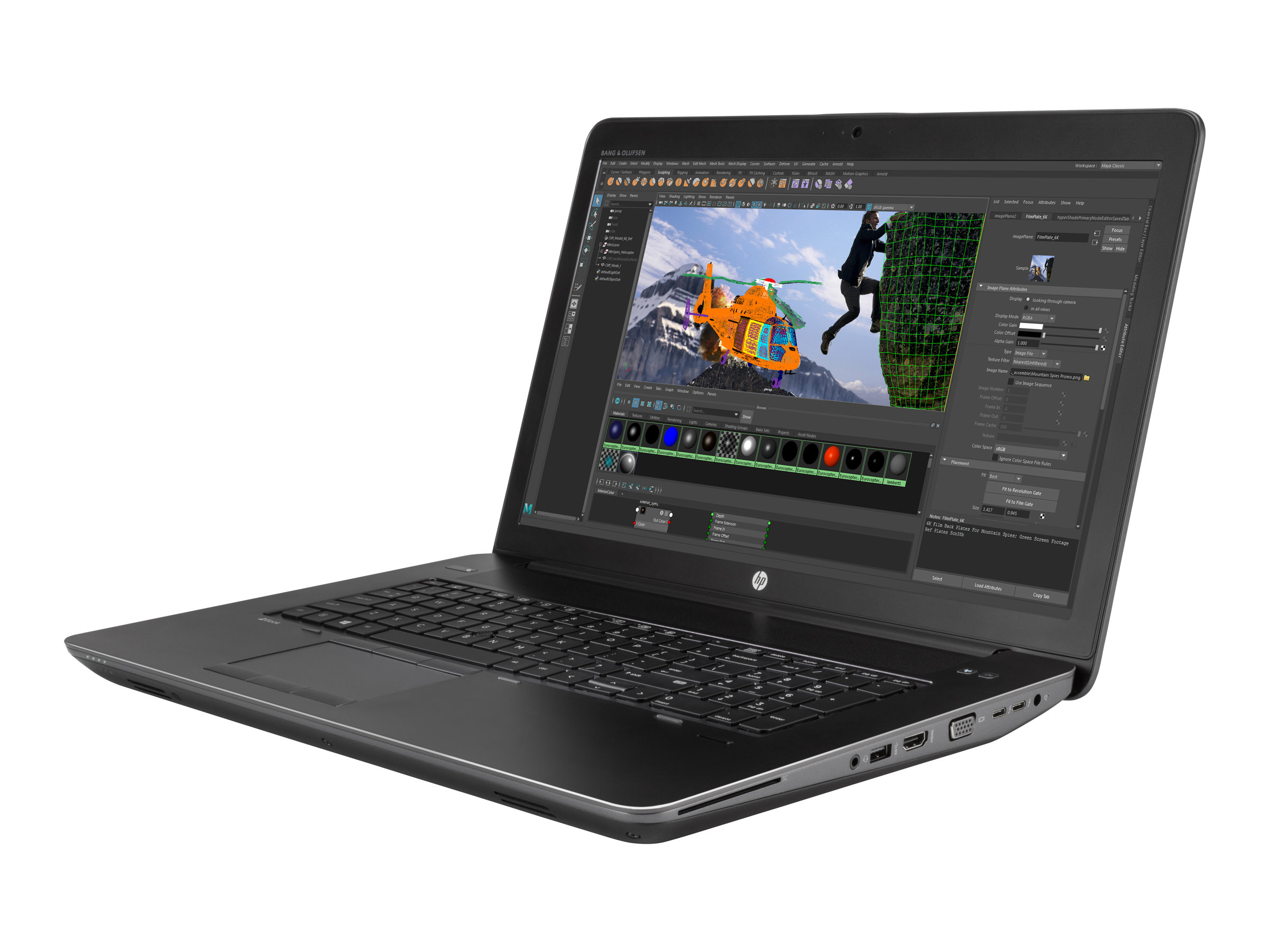 HP ZBook 17 G4 Mobile Workstation - Core i5 7440HQ / 2.8 GHz - Win 10 Pro 64-Bit - 8 GB RAM - 500 GB Hybridlaufwerk - 43.9 cm (17.3