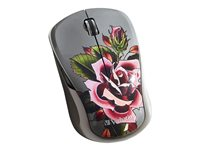 Verbatim Wireless Notebook Multi-Trac Blue LED Mouse Tattoo Series Rose Mouse 5 buttons