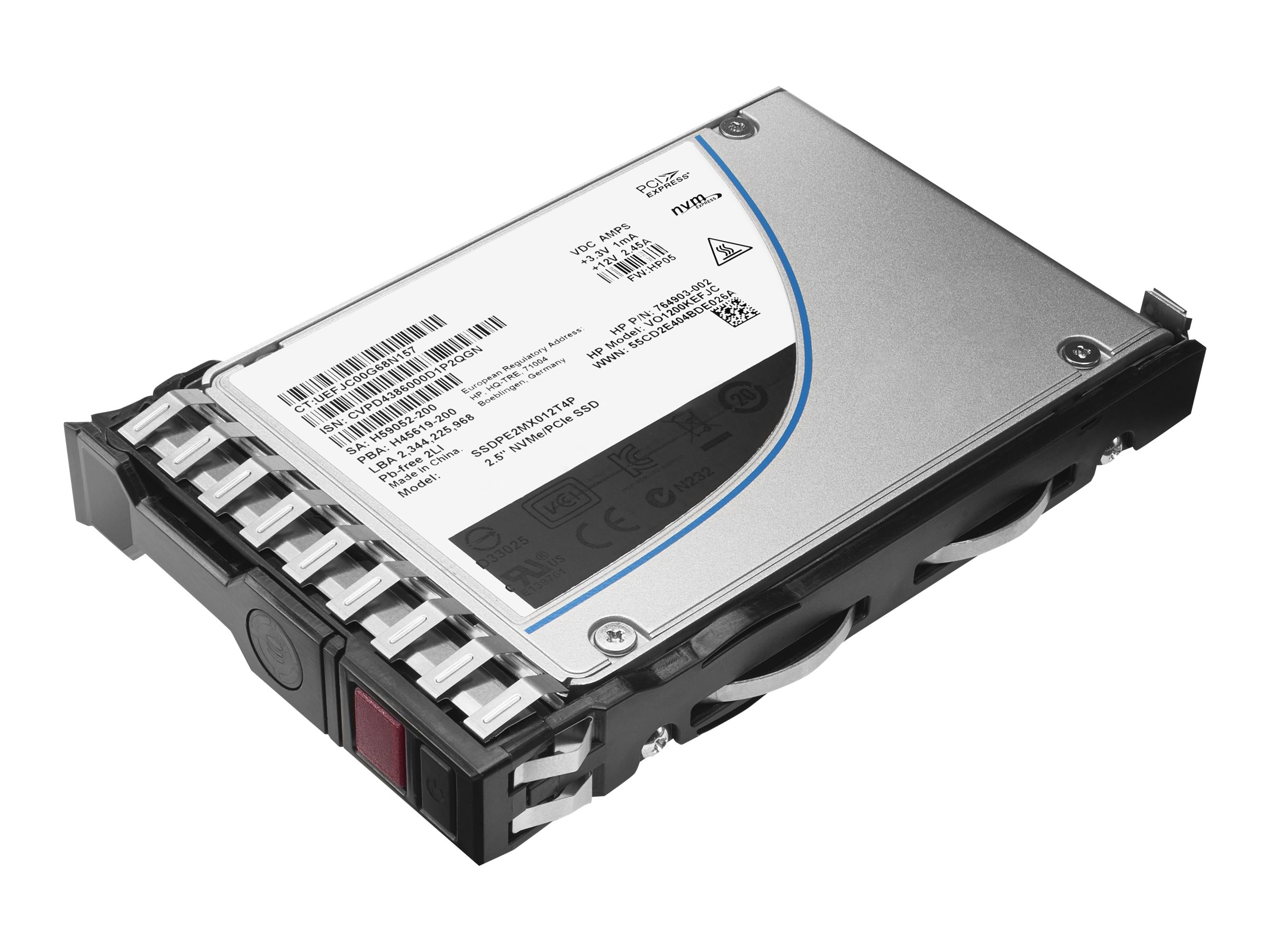 HPE Read Intensive-3 - Solid-State-Disk - 3.84 TB - Hot-Swap - 6.4 cm SFF (2.5