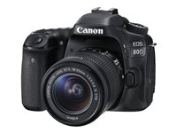 Canon EOS 80D Digital camera SLR 24.2 MP APS-C 1080p / 60 fps