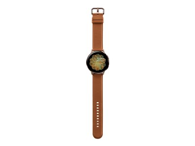 Samsung Galaxy Watch Active 2 44 mm gold stainless steel smart watch with band leather