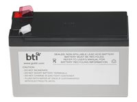 BTI UPS battery (equivalent to: APC RBC40) 1 x lead acid 7 Ah