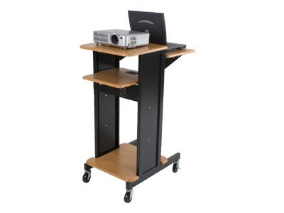 BALT Presentation Cart Cart for projector / notebook black, teak wood