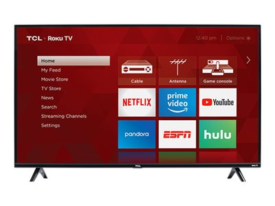 TCL 43S325 43INCH Class (42.5INCH viewable) 3-Series LED TV Smart TV Roku TV