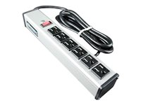 C2G 6ft Wiremold 6-Outlet Plug-In Center Unit 120v/15a Lighted Switch 6-Outlet Power Strip