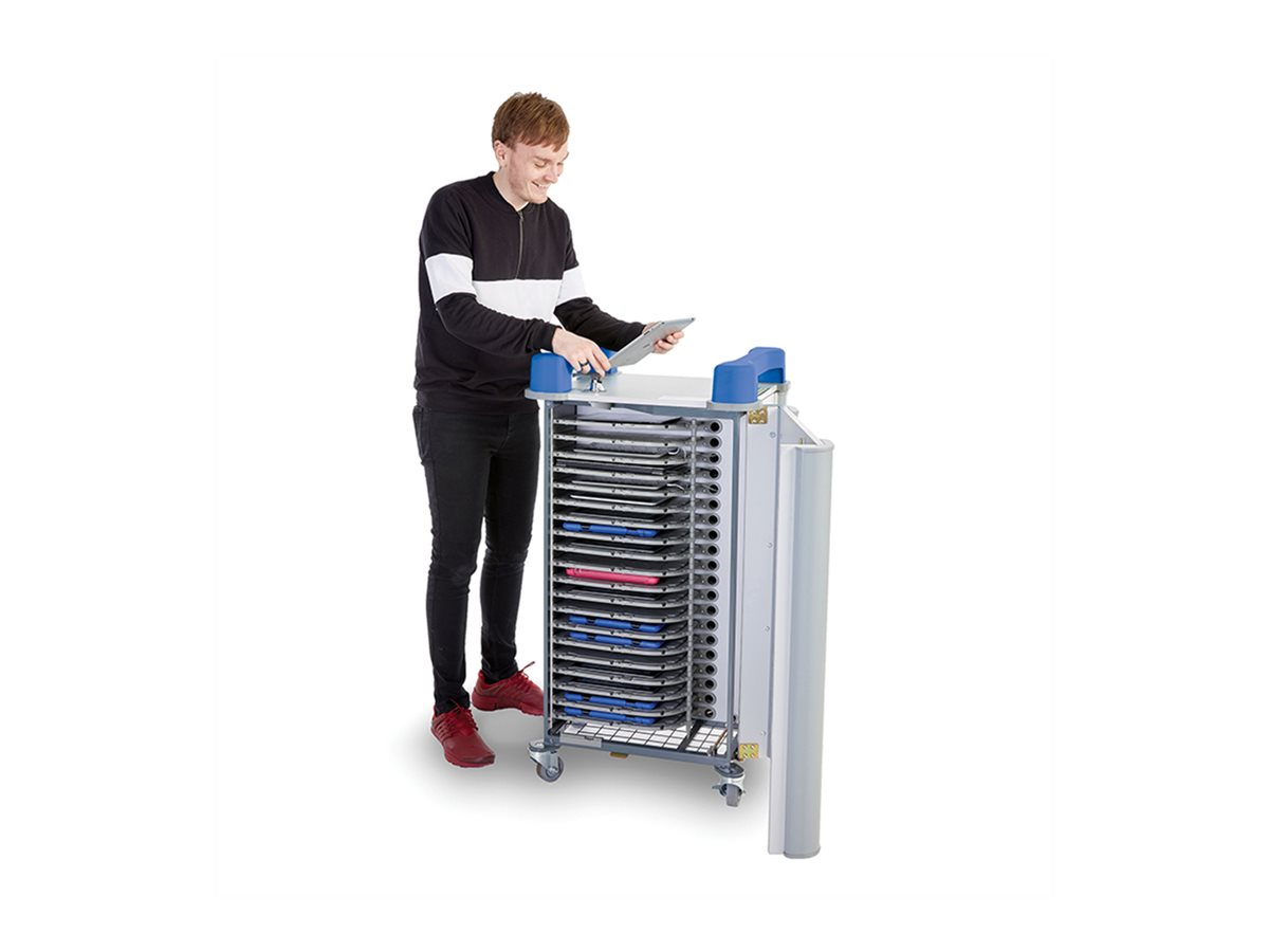 """LapCabby UniCabby 20-Device (up to 14"""") Mobile AC Horizontal Charging Cart - cart"""