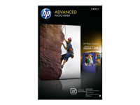 HP Advanced Glossy Photo Paper - Glossy - 100 x 150 mm - 250 g/m² - 25 sheet(s) photo paper - for Deskjet Ink Advantage 1115; Officejet 6000 E609, 7500; PageWide MFP 377; PageWide Pro 452