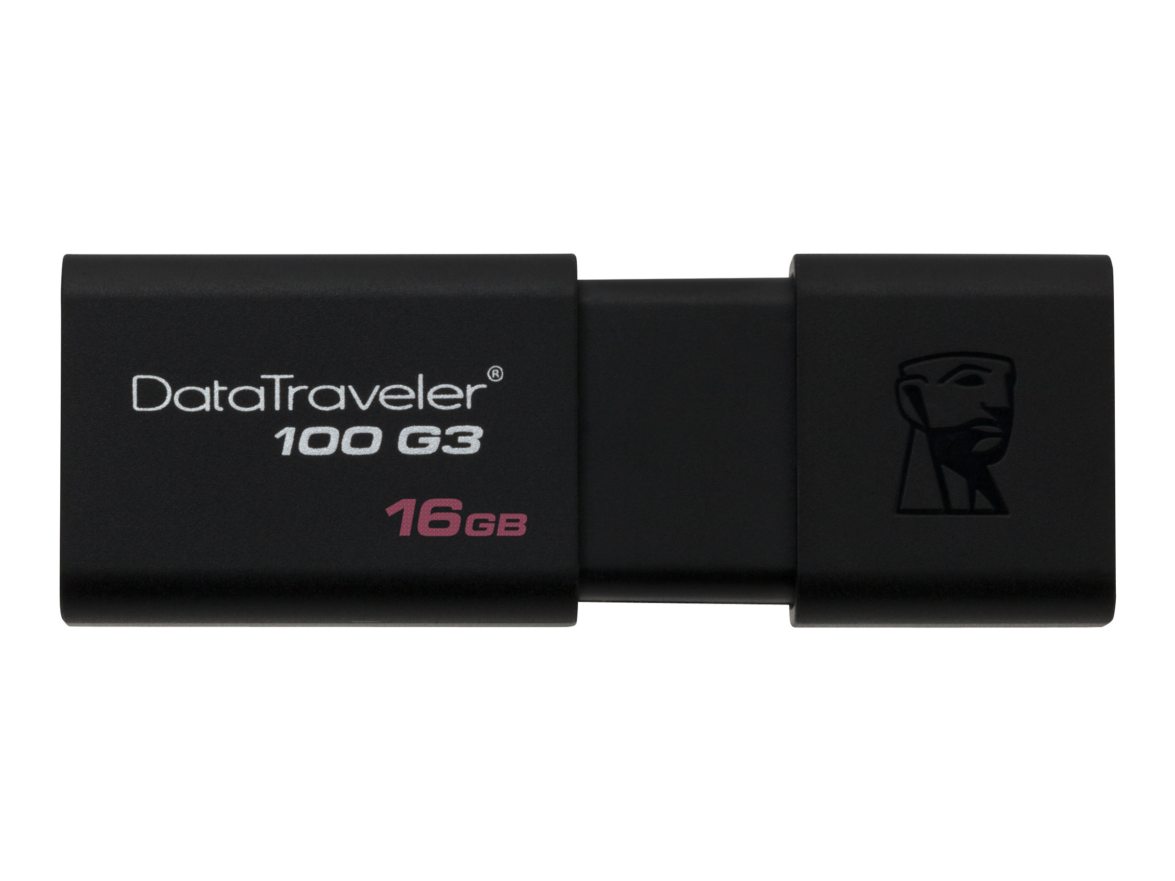 Kingston DataTraveler 100 G3 - USB-Flash-Laufwerk - 16 GB - USB 3.0 - Schwarz