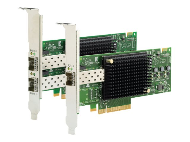 Lenovo ThinkSystem Emulex LPe32002-M2-L - host bus adapter - PCIe 3.0 x8 - 32Gb Fibre Channel SFP+ x 2